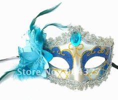 Feather Masks For Masquerade Balls Lace Plastic Acrylic diamond Venetian High quality Mask For Sale 10pcs/lot mix Free-in Party Masks from Home & Garden on Aliexpress.com