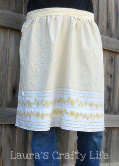 Upcycled pillowcase apron