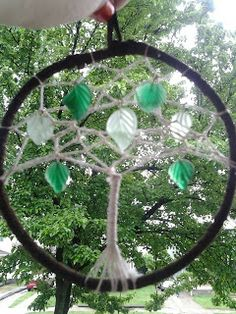 Treasured Perfections: a tree? a dreamcatcher? it's a tree of life dreamcatcher!