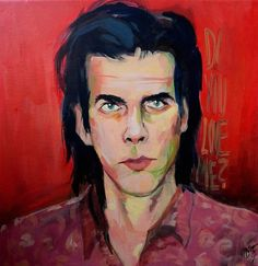 Nick Cave inspired portrait
