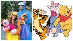 Rosanna Pansino as 'Tigger', Husky as 'Eeyore', Coconut as 'Piglett', Blueberry Muffin as 'Pooh' Costumes