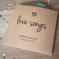 Set Of 10 Personalised 'Love Songs' CD Sleeve Favours