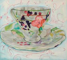 """Saatchi Art Artist Marija Maša Jovanović; Painting, """"cup"""" #art"""