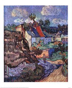 Title: Houses at Auvers, c.1890  Artist: Vincent Van Gogh