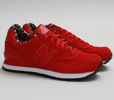 New Balance 574 – Red / Print