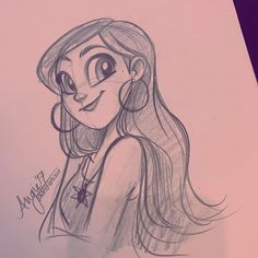 5 minute lunch doodle have a good week! #sketch #girl
