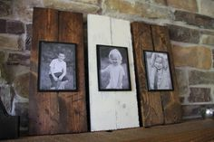 Rustic Plank Frame Set  Wood Picture Frame  by MySideOfTheGarage