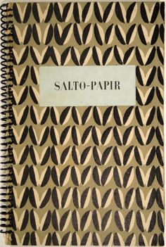"scandinaviancollectors: ""AXEL SALTO, Salto-Papir, cover for the pattern book for printed decorative papers, 1943. Printed by I.Chr. Sørensen for Fischers Förlag, Copenhagen, Denmark. Axel Salto, probably best known for his ceramic art was also a..."