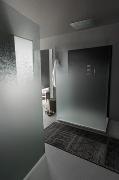 Content filed under the Shower Panels taxonomy. Frosted Shower Doors, Glass Shower Panels, Bathroom Shower Panels, Master Bathroom Shower, Modern Master Bathroom, Glass Panels, Bathroom Doors, Smart Glass, Luxury Shower