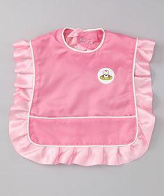 Pink Ruffle Bib