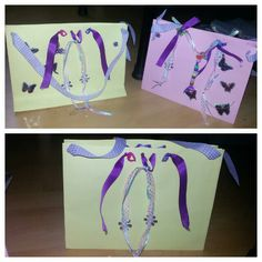 Geschenktüten aus dem We R Memory Board gemacht