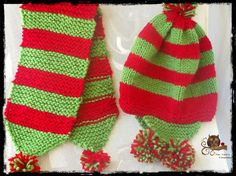 Knitted beanie and scarf for children ! Knit Beanie, Scarves, Children, Hats, Fashion, Long Scarf, Scarfs, Young Children, Moda
