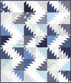 Delectable Mountain Quilt | Made from a Jelly Roll TRUE BLUE… | Flickr