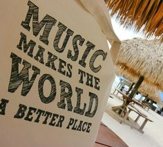 Canvas Tote Bag  Music Make the World a Better by HandmadeandCraft