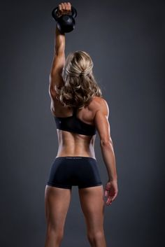 My next purchase will be a kettlebell/ball.  Look at this chick's arms! Dayum.