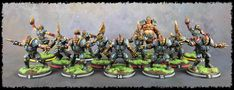 I have finished painting my Human Blood Bowl team, the Titan Bay Thunderhawks. I'm really happy with how the team has come out. Blood Bowl Teams, Painting, Painting Art, Paintings, Painted Canvas, Drawings