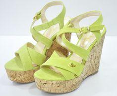 Sandalo Zeppa Lime