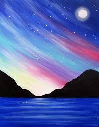 Resultado de imagen de easy mountain painting