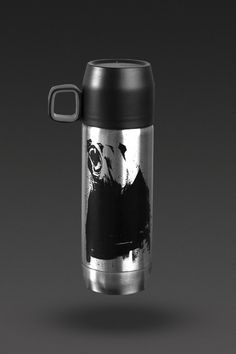 image of Stanley Nineteen13 Vaccuum Bottle (16oz) in Stainless Steel Bear