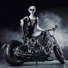 Lady Biker, Biker Girl, Biker Baby, Chicks On Bikes, Stunt Bike, Rockabilly Cars, Motorcycle Posters, Vans Girls, Hot Bikes