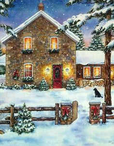 The Effective Pictures We Offer You About navidad noche buenas A quality picture can tell you many things. You can find the most beautiful pictures that can be presented to you about navidad estrellas d. Christmas Scenery, Noel Christmas, Vintage Christmas Cards, Country Christmas, Christmas Pictures, Vintage Cards, Illustration Noel, Christmas Illustration, Illustrations