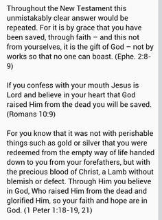Free gift of salvation