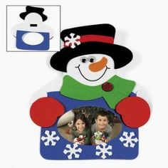 Snowman Photo Frame Magnet Craft Kit 12 Count  ChristmasCrafts for Kids  Photo Crafts *** Find out more about the great product at the image link.