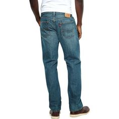 LEVI'S MENS 559 RELAXED STRAIGHT FIT JEAN IN MEDIUM WASH 100% COTTON, 34 X 34 #Levis #RelaxedStraightFit