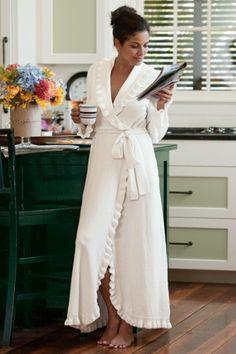 Ruffled Chenille Robe I | Soft Surroundings