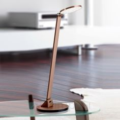 Lampa stołowa LED AYANA, ściemniaczem, brąz. alum. 7255043
