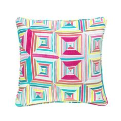 Geo Floral Bright Decorative Pillow