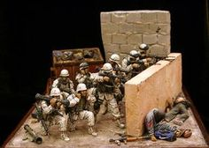 dismounted and stranded members of uniform 1 viciously fight their way to the crash site on foot, year 5 PM