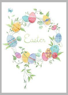 Cute Easter egg wreath design!
