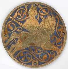 Medallion with Youth on Galloping Horse, ca. 1240–60. French. The Metropolitan Museum of Art, New York. Gift of J. Pierpont Morgan, 1917 (17.190.2151)