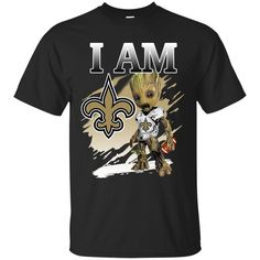 New Orleans Saints Groot I Am T shirts Guardians Of The Galaxy Hoodies Sweatshirts
