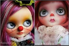 RDS collage clown Blythe doll.. to cute