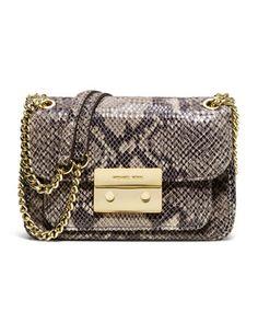 5ac727fca710 Small Sloan Snake-Embossed Shoulder Bag by MICHAEL Michael Kors at Neiman  Marcus. Michael