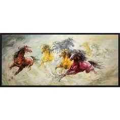 Horse Abstract Animal Painting Acrylic Painting Caudros Painting Walls Oil Painting On Canvas Art