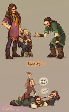Thorin meeting his nephews for the first time....hahahaha < Dis is probably so proud of them :)