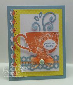 Stampin' Up! Tea Shoppe Stamp Set by Debbie Henderson, Debbie's Designs.
