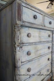dreamingincolor: Layering Paint on a Dresser