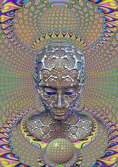 Backdrop Micro Macro Wandbehang x Hippie Goa Tuch Psy Art Kunst Psychadelic Art, Psychedelic Tapestry, Psy Art, Bild Tattoos, Geometry Art, Mystique, Art Graphique, Visionary Art, Sacred Art