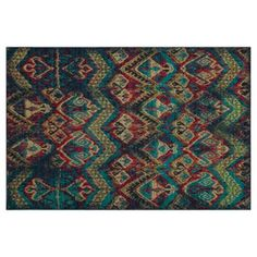 """Check out this item at One Kings Lane! 7'10""""x9'10"""" Robin Rug, Blue/Multi"""