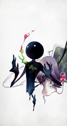1girl back-to-back deemo deemo_(character) girl_(deemo) heart heart_monitor highres hospital_gown official_art…