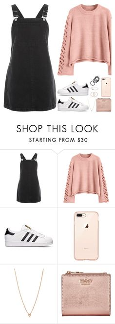 """Sin título #1914"" by pauarmenta68 ❤ liked on Polyvore featuring Topshop, adidas, Elsa Peretti and Kate Spade"