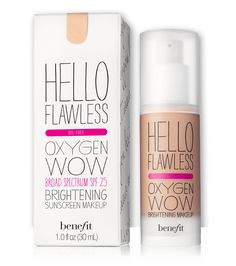 hello flawless! oxygen wow liquid foundation | Benefit Cosmetics. Ivory Fair Believe in Me-Winter
