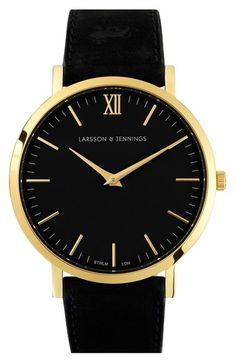 6ab36d37709  295 Larsson  amp  Jennings  Lugano  Leather Strap Watch