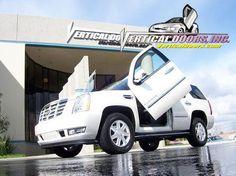 "Cadillac Escalade (All). With Lambo ""Bold-On"" door conversion kit. 2007, 2008, 2009, 2010"