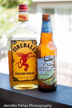 ANGRY BALLS INGREDIENTS - Angry Orchard Crisp Apple 1.5 oz of Fireball Cinnamon Whisky METHOD In a pint glass combine over ice, 1.5oz cinnamon whisky and Angry Orchard Crisp Apple