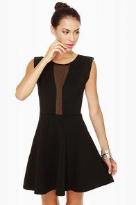Peek Chic Cutout Black Dress
